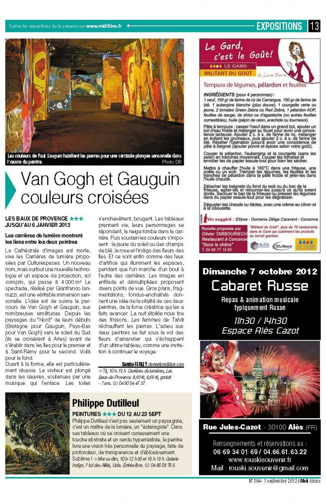 EXPO CARRIERES DE LUMIERE